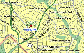 Holiday Inn Silver Spring map
