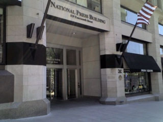 photo of 14th Street entrance of National Press Building